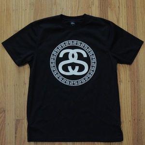 Stussy Jersey Shirt Black White Logo Mesh Tee